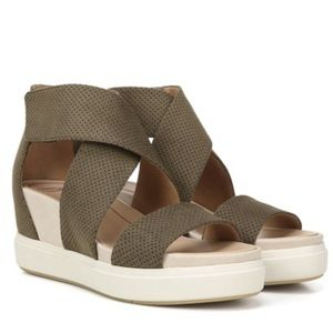 Dr. Scholl's Sheena Wedge Sandal Moss Green